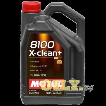 Motul 8100 X-clean+ 5W30 - 5 литра