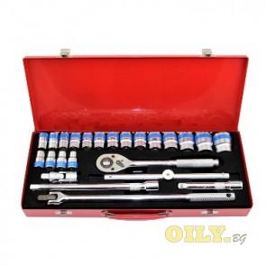 """Комплект инструменти  Dr. Socket Set 1/2"""" в метална кутия"""