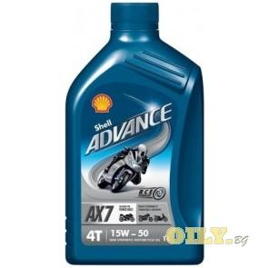Shell Advance 4T AX7 15W50 - 1 литър