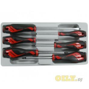Отвертки Teng Tools - Комплект 6 броя