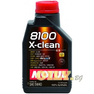 Motul 8100 X-clean 5W40   - 1 литър