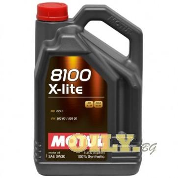 Motul 8100 X-lite 0W30 - 5 литра
