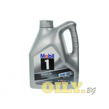 Mobil 1 Peak Life 5W50 - 4 литра