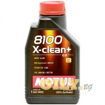 Motul 8100 X-clean+ 5W30 - 1 литър