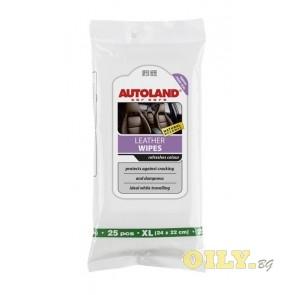 Autoland кърпички за почистване на кожена тапицерия - 25 броя