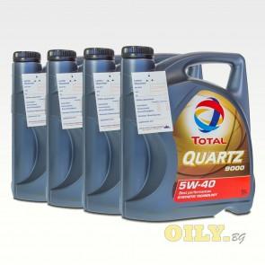 Total Quartz 9000 5W40 - 4 x 5 литра
