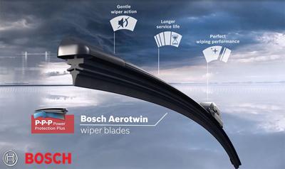 Оригинални плоски и обикновени чистачки Bosch за автомобили.