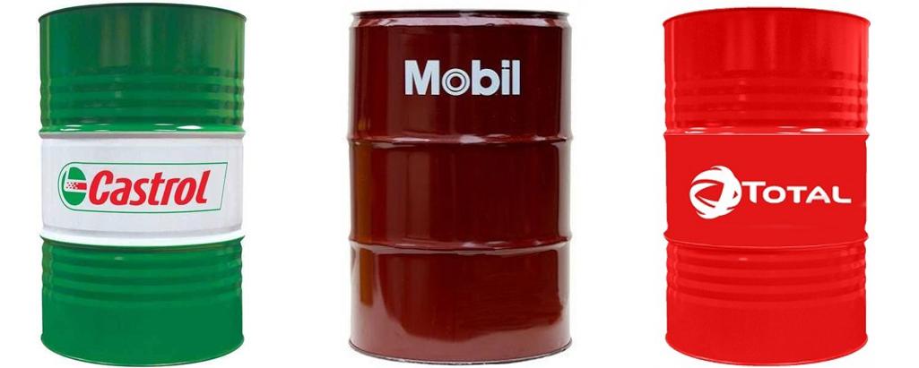 Оригинални масла Castrol, Total и Mobil